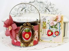 ♥♥♥ this strawberry gift basket and matching card.  So yummy!