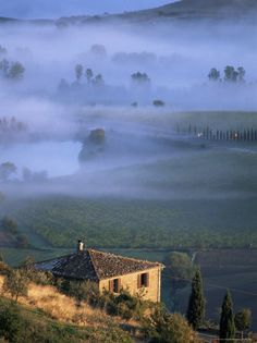 Montalcino, Tuscany...and be sure to enjoy the region's wonderful wine, Brunello di Montalcino.