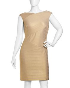 Bandage-Knit Sleeveless Dress, Women\'s by Kay Unger New York at Neiman Marcus Last Call.