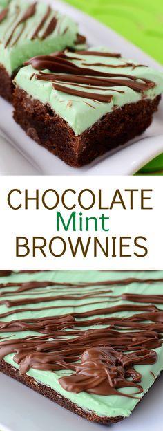 chocolate mint brownies chocolate mint brownies this festive dessert ...