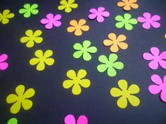 80 Neon Flowers by ang744 on Etsy, $3.50