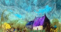 Fantastic Felt works by Moy Mackay. Needle Felted Animals, Felt Animals, Needle Felting, Textile Fiber Art, Fibre Art, Felt Pictures, Wool Felt, Felted Wool, Felt Art