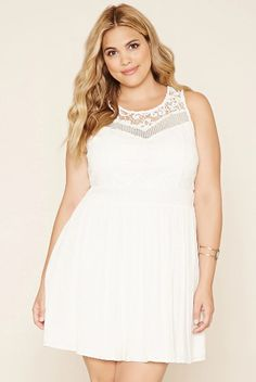 This whimsical dress with a crocheted panel. | 38 Plus Size Dresses You'll Want To Wear All Summer