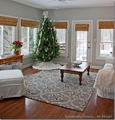 Sunroom updated and painted with Stonington Gray Benjamin Moore paint, a very pretty gray blue color. by alisha Porch To Sunroom, 4 Season Sunroom, 3 Season Room, Three Season Room, Sunroom Ideas, Small Sunroom, Front Porch, Stonington Gray, Four Seasons Room