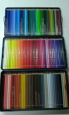 Polychromos coloured pencils.