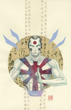 "artverso: ""David Mack - Rai "" More arts here: https://www.facebook.com/pg/David-Mack-21231086294/photos/"