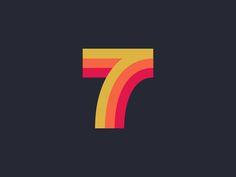 7 | Design 7 Logo, Logo Branding, Graphic Design Tips, Logo Design, Number 7, Lucky Number, Lucky 7, Seven Logo, Typography Inspiration