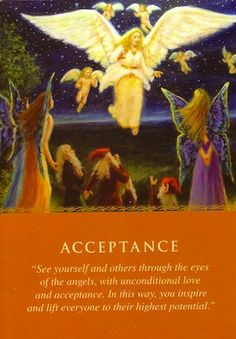 You received this card to help your relationship with yourself and others.... (keep reading: http://www.freeangelcardreadingsonline.com/2013/daily-guidance-from-your-angels-acceptance/)