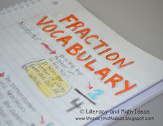 Literacy & Math Ideas: Note Taking in Math