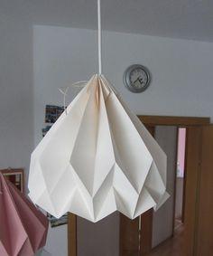 Origami Lampenschirm, Papierlampe, Origami Lampshade, folded paperlamp, paper lampshade, plisseelamp,