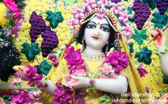 To view Radha Close Up Wallpaper of ISKCON Chowpatty in difference sizes visit - http://harekrishnawallpapers.com/srimati-radharani-close-up-wallpaper-054/