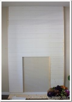 Fireless Fireplace Complete For the fireplace surround  (white planks) I used the following… ◾1×2's cut to size  ◾2 in nails ◾5.5 inch primed MDF planks cut to size ◾white paint  ◾wood filler ◾sander
