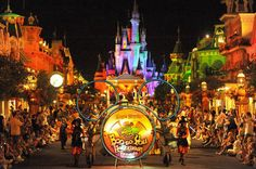 Mickey's Not-So-Scary Halloween Party   By Teresa Plowright: Boo to You - Disney Halloween Parade. Photo courtesy of Walt Disney World.   A highlight at Mickey's Not-So-Scary Halloween Party is the special Boo to You Halloween Parade. The photo above shows Main Street U.S.A., with Cinderella Castle in the background.
