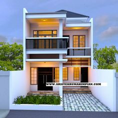 christmas home decor kirkland using simple exterior house designs in india with flat roof house exterior design for small cottage house plans ireland Two Story House Design, House Roof Design, Flat Roof House, 2 Storey House Design, Duplex House Design, Simple House Design, Minimalist House Design, Facade House, House Front