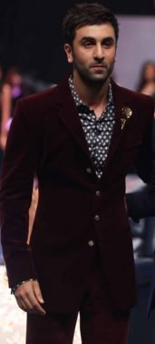 Burgundy suit and geographic print button down shirt.   5 Style Risks Men Should Take This Fall   www.divinestyle.co