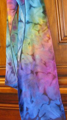 Handpainted Silk Scarf Free Flow Style