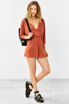 Silence + Noise Tangled Up Romper - Urban Outfitters