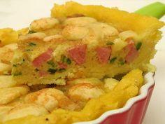 Crostata di polenta con zucchine e mortadella