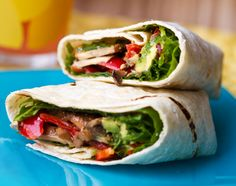 smoky mushroom avocado wrap -- would probably make sans liquid smoke and spice in another way | from Kathy of Healthy. Happy. Life.