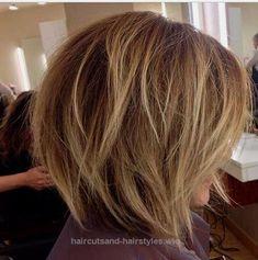 Short Layered Bob Hair Cut