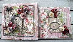 Maribel box and card Collage Art, Mixed Media, Decorative Boxes, Stamp, Cards, Blog, Art Journals, Vintage, Inspiration