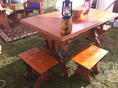 A Trestle Table for Under $35: How I Built a 15th-Century-Style Table for Pennsic From an Old Door and Pine Boards