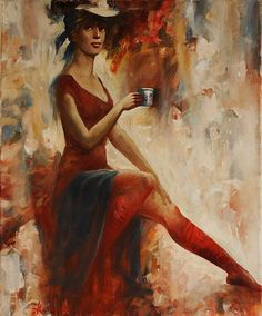 CUP OF COFFEE, by ANATOLIY ROZHANSKY