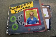 "Kindergarten Keepsakes - storage idea on how to keep all those ""savable"" memories from kids' school days"