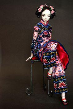 The Lady In Black-Enchanted Dolls by Marina Byckova