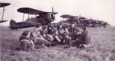 https://flic.kr/p/g62aW4 | GLADIATORS | Gloster Gladiators and crews of No.615 Squadron in France during the Phoney War.