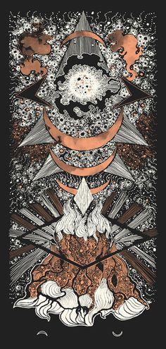 Image of Art Print : DARK MOON (2014) Screenprinted Poster