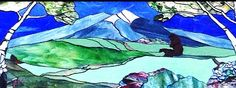 My stained glass art of Mount Sopris.