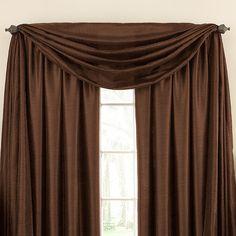 Astoria Sound Asleep™ Room Darkening Window Thermaliner™ Scarf Valance - BedBathandBeyond.com