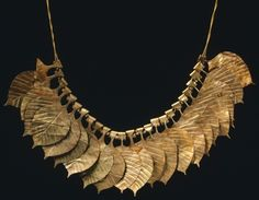 Necklace of gold leaf from Ur, Iraq