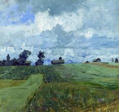 Isaac Levitan - Stormy Day, 1897. Oil on canvas, 82 × 86.5 cm. Tretyakov Gallery, Moscow, Russia