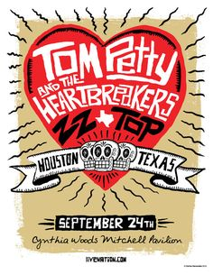 Tom Petty and the Heartbreakers with ZZ Top by carloshernandez, $75.00
