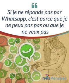 Si je ne réponds pas par Whatsapp, c'est parce que je ne peux pas pas ou que je ne veux pas   La contrainte #émotionnelle à laquelle nous soumettent les #technologies de l'immédiateté met à mal les principes d'une bonne #communication. Réfléchissons-y.  #Psychologie
