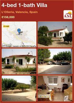 4-bed 1-bath Villa in L'Olleria, Valencia, Spain ►€156,000 #PropertyForSaleInSpain