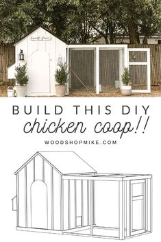 Build This DIY Chicken Coop! Grab the plans for this DIY chicken coop! This coop will hold birds, has 4 nesting boxes, an arched door, and run!Photo by shelbyr Chicken Coop Designs, Cute Chicken Coops, Diy Chicken Coop Plans, Chicken Coup, Backyard Chicken Coops, Building A Chicken Coop, Chickens Backyard, Chicken Garden, Chicken Runs