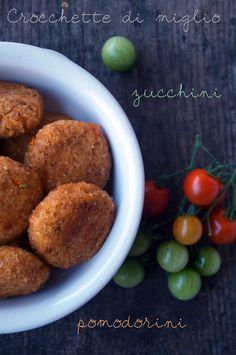 il gattoghiotto: Crocchette di miglio con zucchini e pomodorini