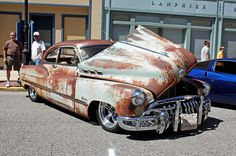 1950 Buick Special Eight Sedanette Fastback Coupe (5 of 11) by myoldpostcards, via Flickr