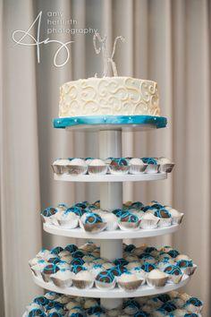 Tiered Wedding Display And Cutting Cake Weddings Cakebites Cakeballs