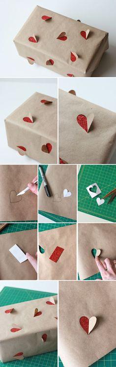 Idée créative pour l'emballage cadeau original ♥ #epinglercpartager