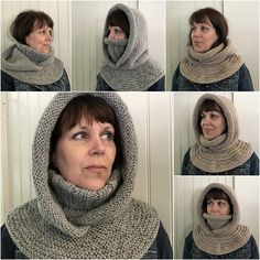 Ravelry: Arctic Chill pattern by Grace Rose - a turtleneck, a breastplate, and a hood, all knitted together. Uses worsted weight yarn held double, or sub in a bulky yarn if you can get gauge Snood Knitting Pattern, Arm Knitting, Outlander Knitting Patterns, Simple Knitting, Double Knitting, Super Bulky Yarn, Knit In The Round, Stockinette, Ravelry