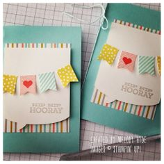 We're just loving the new Word Bubble framelits and the free products from the Sale-A-Bration brochure! #stampinup