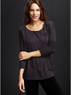 When this goes on sale, I will make it mine! GAP Pure pocket sweater