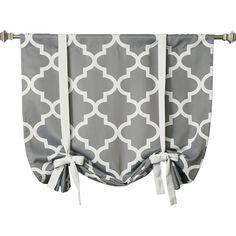 Found it at Joss & Main - Quatrefoil Rod Pocket Tie-Up Curtain Panel