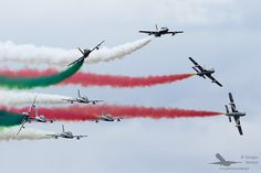 Frecce Tricolori - Frecce Tricolori 55th Anniversary Aviation Art, Air Show, Airports, Military Aircraft, Airplanes, Fighter Jets, Smoke, Pictures, Planes