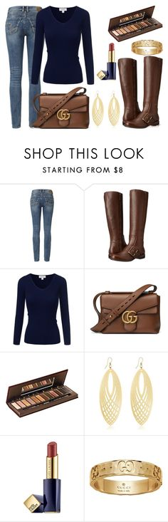 """""""Watch Me"""" by flybeyondtheskies ❤ liked on Polyvore featuring Silver Jeans Co., Nine West, Gucci, Urban Decay and Estée Lauder"""