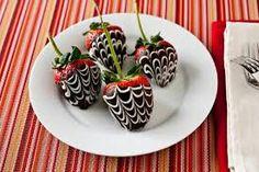 Intense chocolate covered strawberries!!